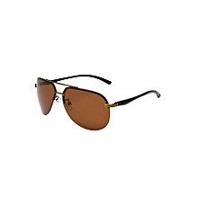 10f35006bfe Men  039 s Polarized Aviator Sunglasses Mirrored Outdoor Driving Fishing  Glasses Brown