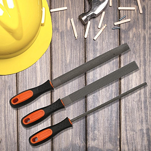 3-part Set Of Hardened Carbon Steel With Soft Rubber Grip