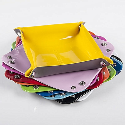 Honana HN-B50 Colorful PVC Storage Tray Keys Coins Wallet Storage Box Catchall Desk Valet Tray
