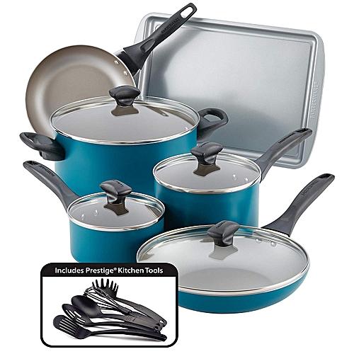 Farberware 15-piece Dishwasher Safe Nonstick Cookware