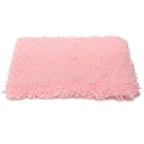 KiWam 50x70cm Colorful Newborn Baby Fur Blanket Rug Stuffer Backdrop Photo Prop Background Mat Carpet Soft Decorative Fabric-Pink