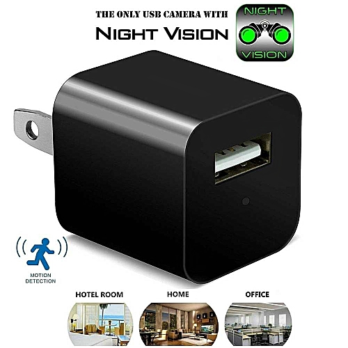 Multi-function 1080P Mini WIFI Mini Hidden Camera USB Wall Charger View Real-time Video On Your Phone(EU) BDZ
