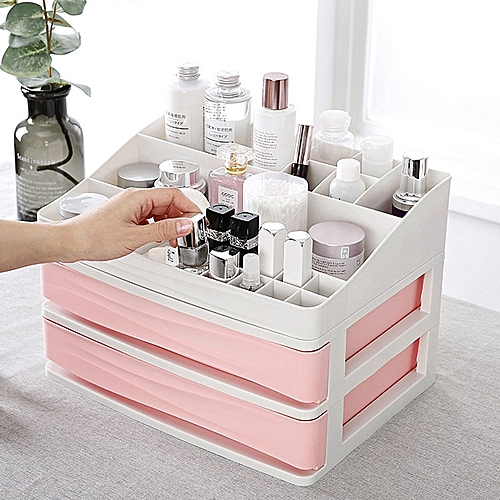 Plastic Cosmetic Drawer Makeup Organizer Makeup Storage Box Container Nail Casket Holder Desktop Sundry Storage Case