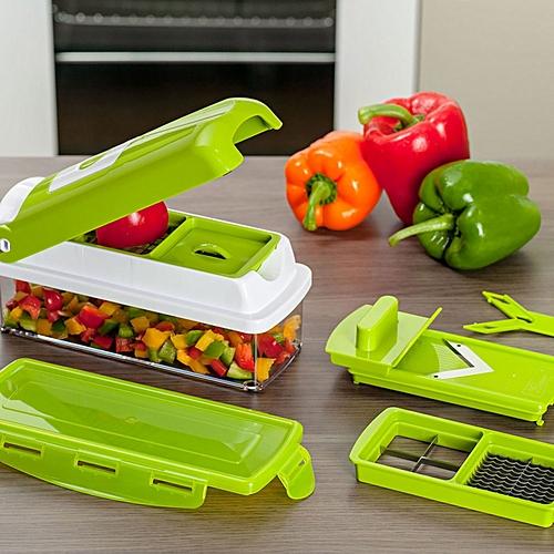 Nicer Dicer Multi-Chopper Set Multi Chopper Vegetable Cutter Fruit Slicer Peeler - Green
