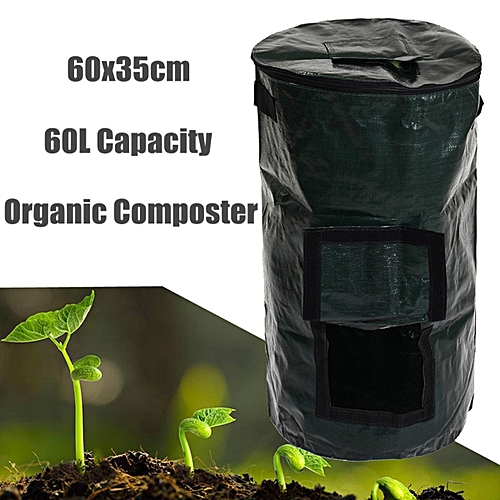 Organic Composter Waste Converter Bin Eco Friendly Compost Storage Garden