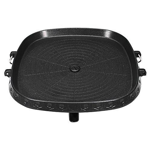 Portable Korean BBQ Grill Non Stick Marble Coating Butane Gas Stove Pan Plate