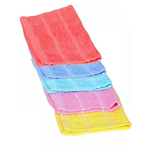6Pcs Multicolored Hand Towels