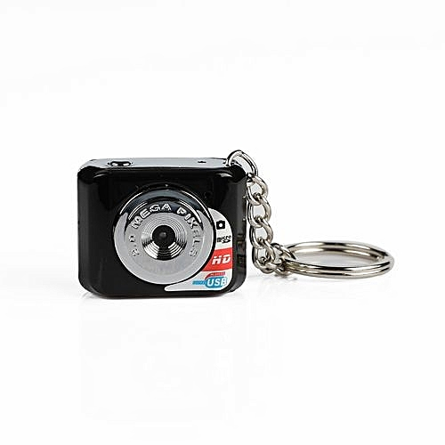 DOITOP Mini HD Camera Ultra Portable Keychain Camera X3 Video Recorder Digital Small Camera DV 480P DV DVR Driving Recorder-Black