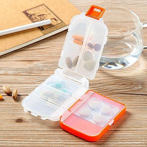 Honana HN-PB011 Portable 8 Compartments Pill Case Foldable 3 Layers Pill Organizer Medicine Box