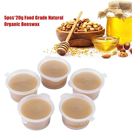 5pcs*20g Natural Organic Beeswax Food Grade Bees Wax For Candle/Soap/Lipstick