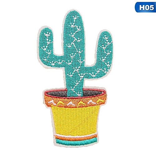 Eleganya Creativity Lovely Embroidery Plant Clothing Shoes Simple Cloth Stickers H05