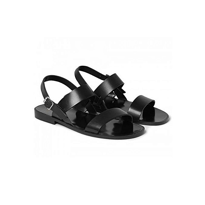3c28e0864b3 Fashion Men Leather Sandals- Black