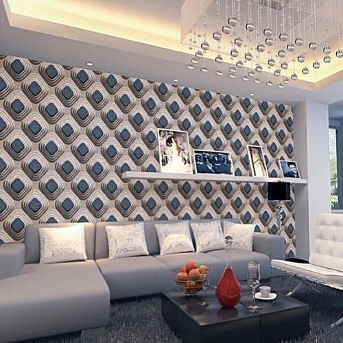 Blue & Grey Wallpaper - 5.3 SQM