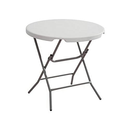Fujifilm Round Plastic Table With 4 Foldable Metal Legs