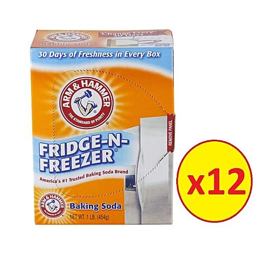 Pure Baking Soda Fridge-N-Freezer Pack 396.8g Of 12