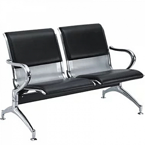 2-Seater Metal Visitors Chair With Cushions