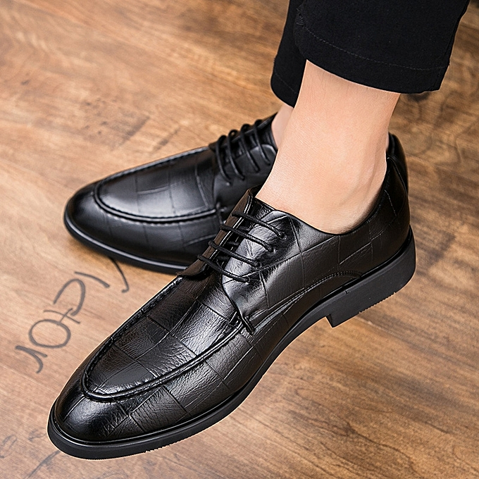 96cb635c1 FLANGESIO New Men Leather Shoes Pointed Leather Oxford Shoes For Men Dress  Shoes Luxury Business Wedding Men Formal Shoes