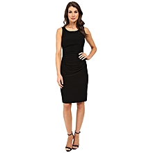 5781eddc1c93bf KAMALIKULTURE By Norma Kamali Sleeveless Shirred Waist Dress