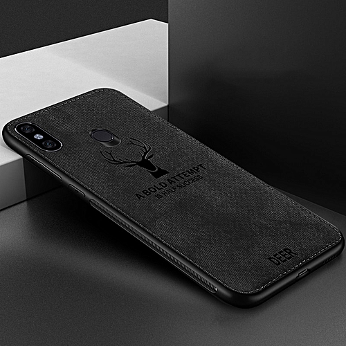 For Xiaomi Mi A2 Case Deer Cloth Phone Case For Xiaomi CASE TPU Back Cover-Black