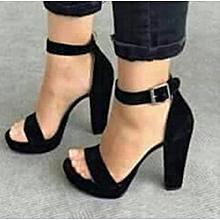 9cd38c584bb Znu Womens Block Heel Ankle Strap Suede Sandals Ladies