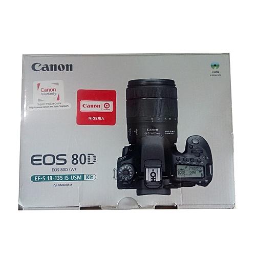 80D Canon Camera 18-135mm Lens