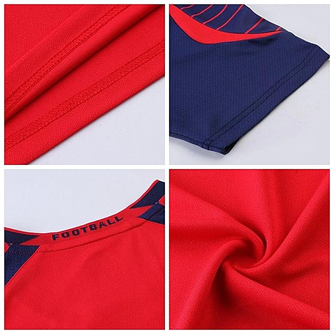9c15967a6 ... Men O-neck Soccer Jerseys Uniforms Set Short Sleeve New Style-Red