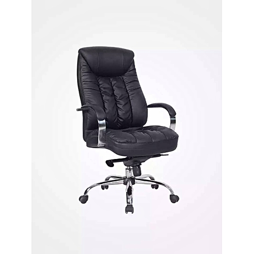 Executive Office Black Leather Chair - Black