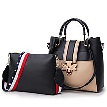 7a7ca2db32 New Brand Leather Handbags Ladies Fashion Handbag Shoulder Ladies Bag (  Black )