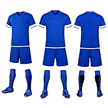ecddea4e843 Short Sleeve Kid And Adult's Football Soccer Jersey Suit Blank-AHZQY