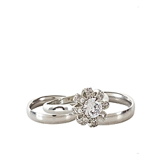 Silver Wedding Ring Set With Stones for sale  Nigeria