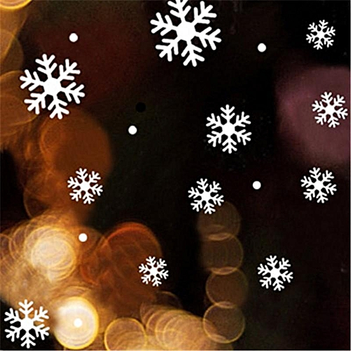 Christmas White Snowflakes Sticker Windows Glass Cabinet Wall Stickers New Year Home Decoration Wall Stickers Wallpaper White