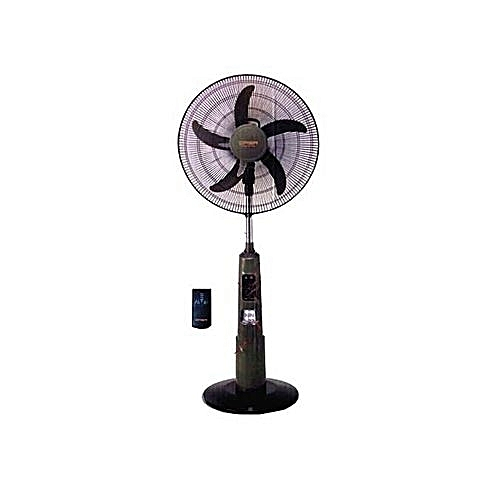 "16"" Rechargeable Standing Fan With Remote &USB -"