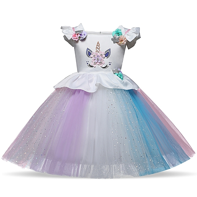 eb7511954 Flower Girl Dress Fancy Ball Gowns Kids Dresses For Girls Party Princess  Girl Clothes 1-