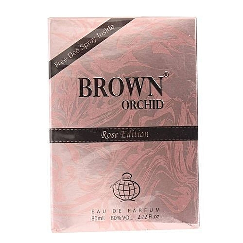 Brown Orchid Rose Edition With Free Spray Inside EDP 80ml Perfume...