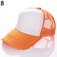 3f10c734038 Attractive Baseball Cap Trucker Mesh Visor Adjustable Hat (Orange  amp  ...