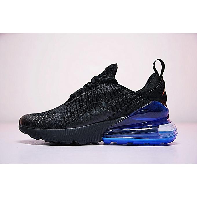 pretty nice f5040 b2cbc 2018 Unisex Air Max 270 Running Sneakers Black Blue AH8050-009 EU36-44