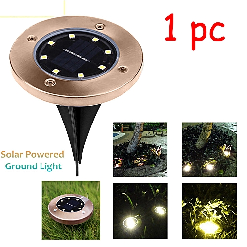 LED Solar Power Buried Light Under Ground Lamp Garden Decor