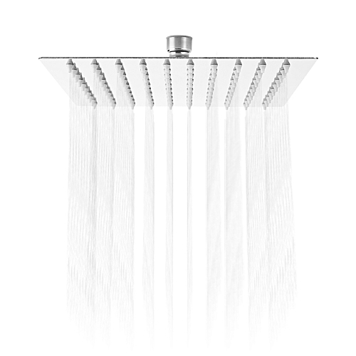 8 Inch Ultra-thin Square Stainless Steel Rainfall Shower Head Top Shower