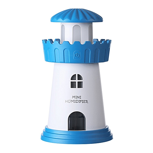 Lighthouse Humidifier Household Appliance Atomizer USB AirBlue
