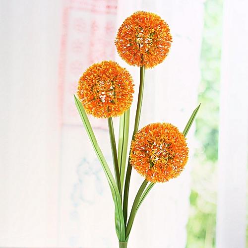 Solar Power Dandelion Flower LED Light Outdoor Garden Yard Lawn Landscape Lamp Orange