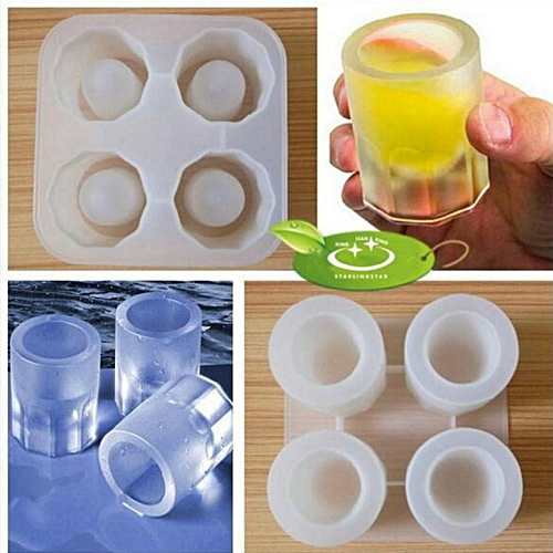 Silicone Mold DIY Wine Glass Lattice Ice Cup Making Tool