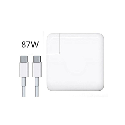 USB-C Power Adapter With Charger Cable White