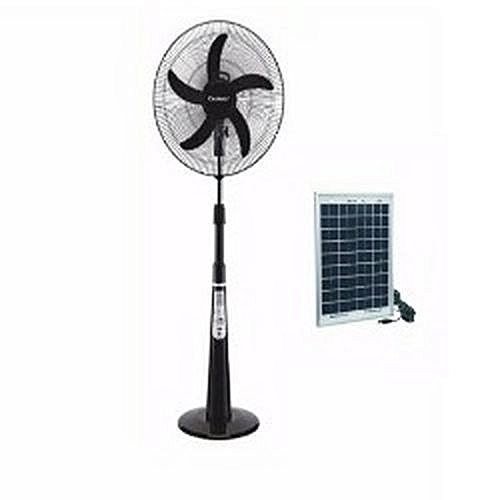 5-Blade Adjustable 16-Inch Rechargeable Fan + 20'watts Solar Panel