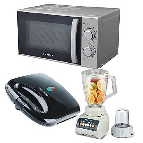Microwave With Grill 20Liters + Blender + Toaster