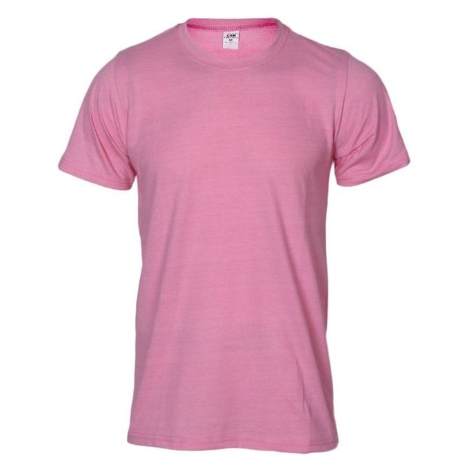 Csn Classic Short Sleeve Round Neck Plain T-shirt - Light Pink ...