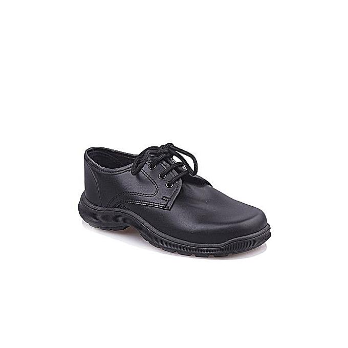 f6f7dbff14 Fashion Kids Leather School Shoes - Black