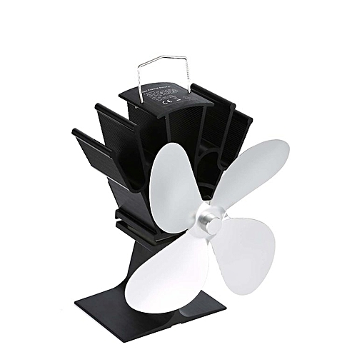 TA Thermal Power Fireplace Fan Heat Powered Wood Stove Four-leaf Fans