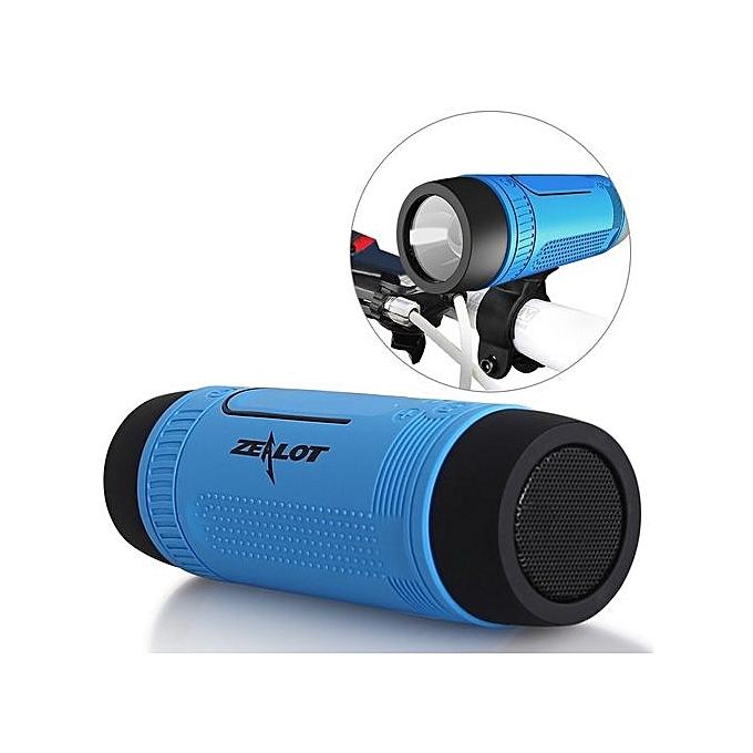 Zealot S1 Wireless Bluetooth Speaker - Power Bank - Flash Light - Tf Card With FM - Multifunctional