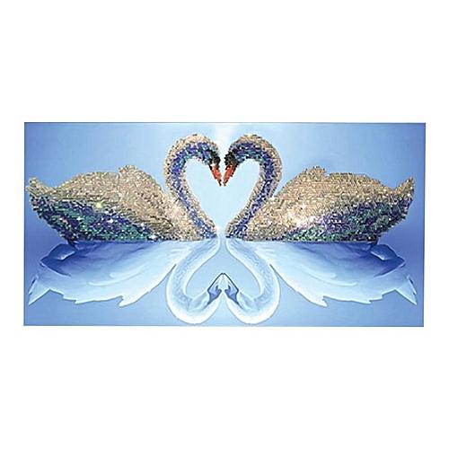 Eleganya 35*18cm New Creativity Swan Priting Home Decoration Diamond Painting