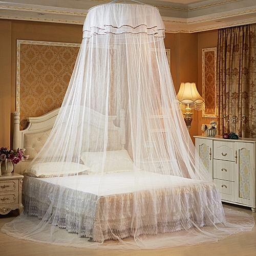 Mosquito Net Bed Canopy Netting Fly Insect Protection Bed Outdoor Curtain Dome - White